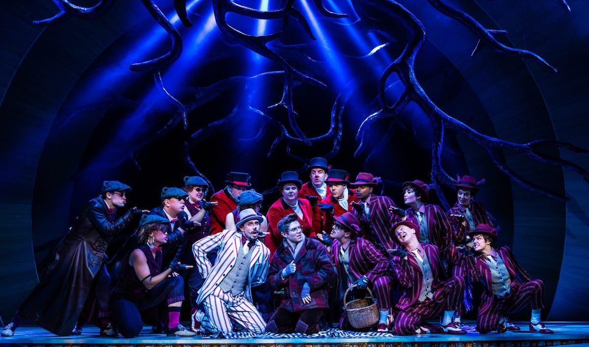 Neil McDermott (Chief Weasel), Craig Mather (Mole) and Company in The Wind in the Willows. CREDIT Darren Bell